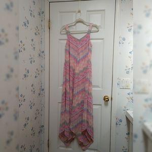 💞Emma & Michele tank dress with handkerchief hem